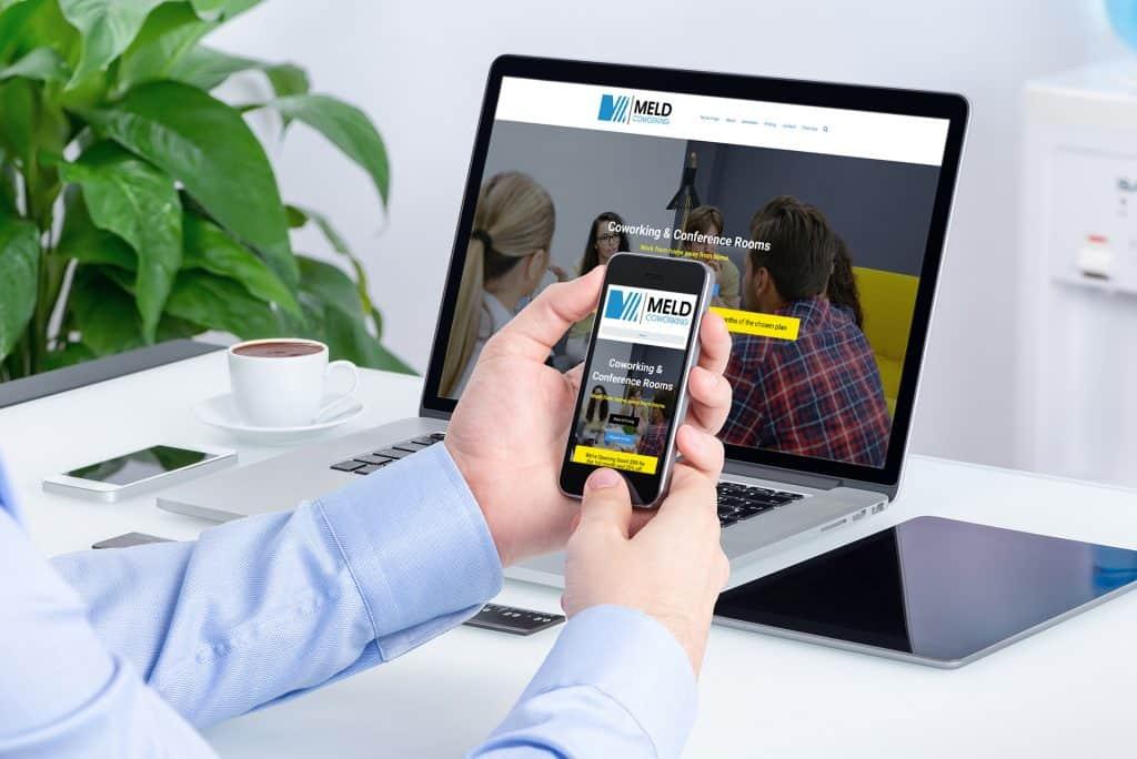 MELD Coworking website design