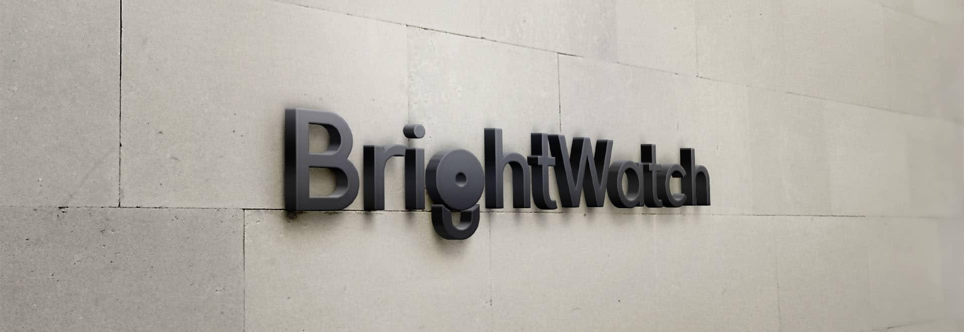 BrightWatch logo design header