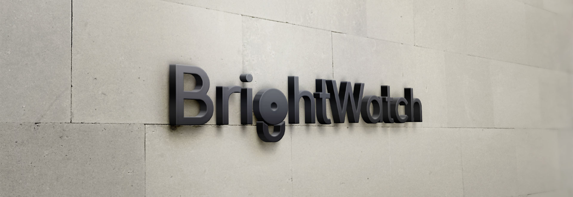 BrightWatch logo design header
