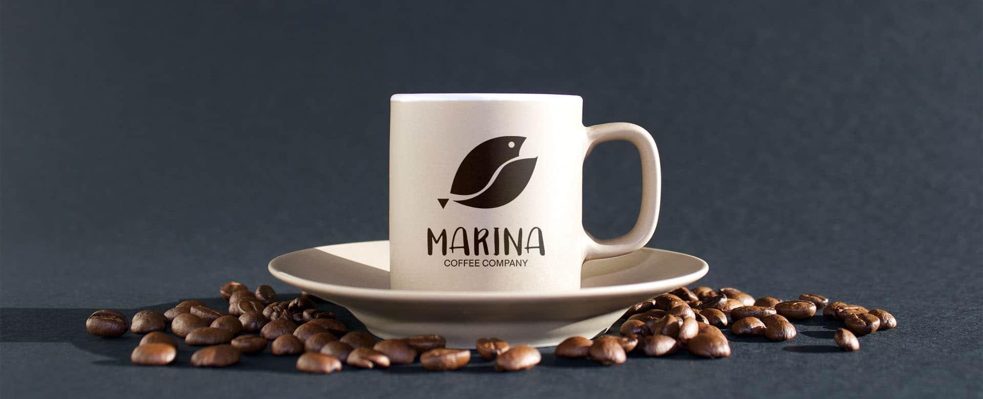 Coffee mug with a logo