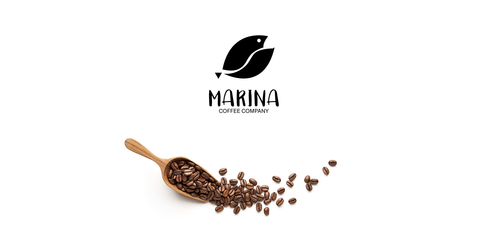 Logo design for a coffee company and beans