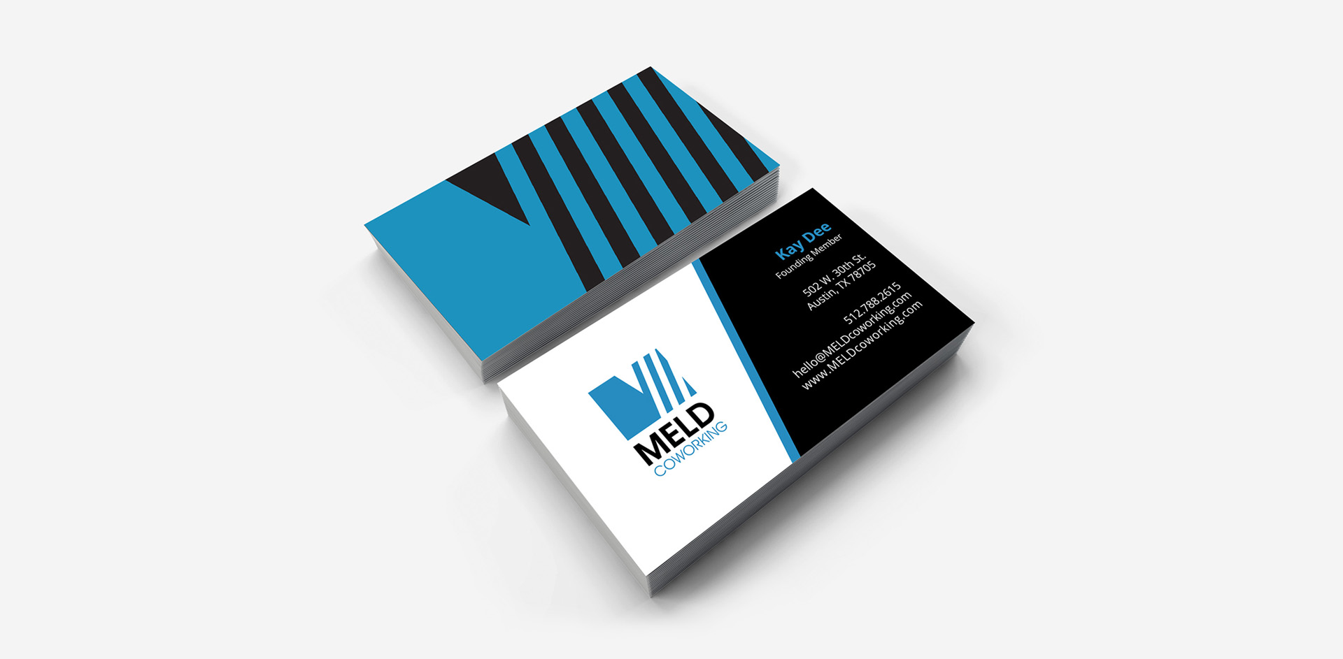 MELD Coworking business cards design