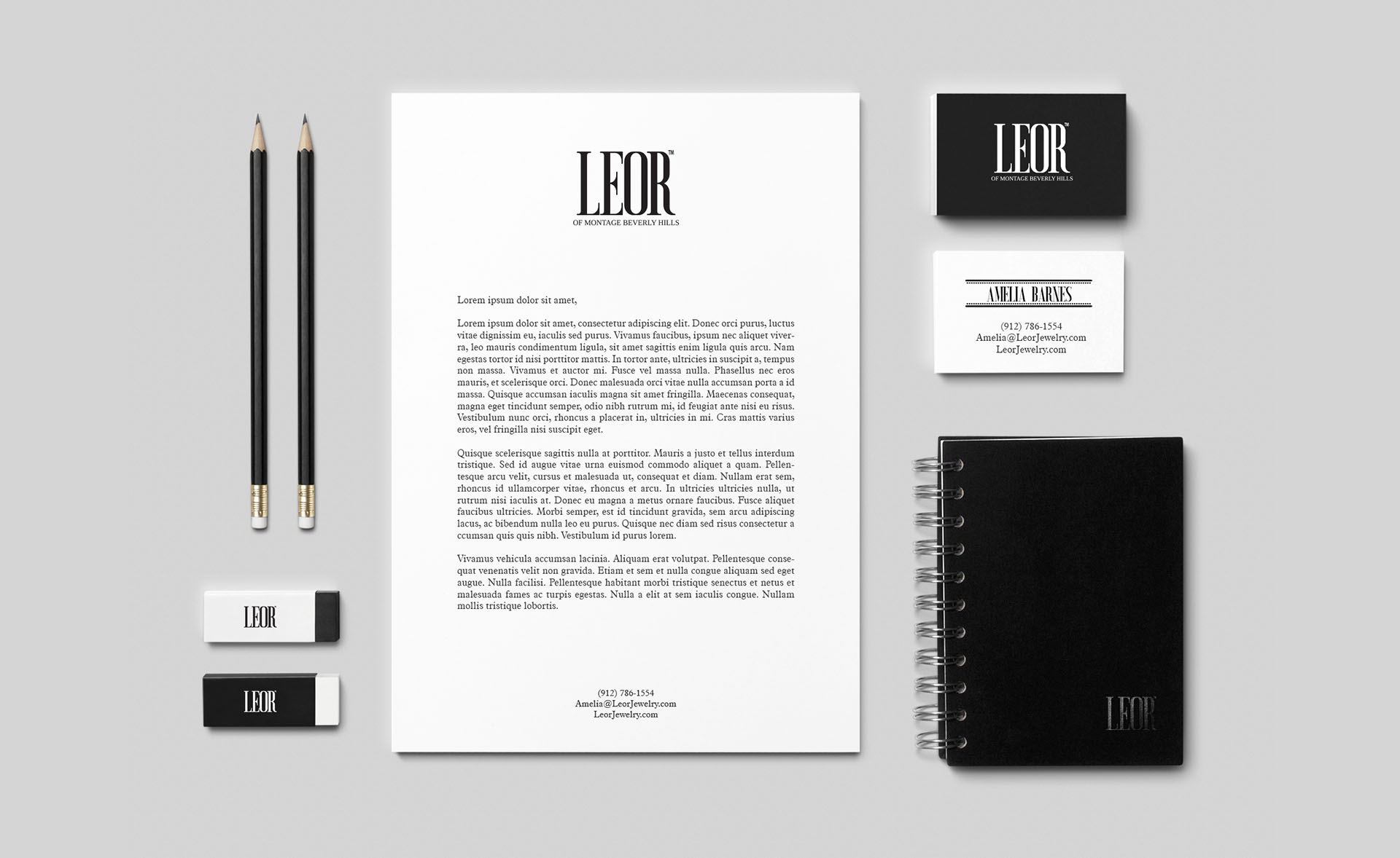 Branding and Stationery Design for a jewelry store