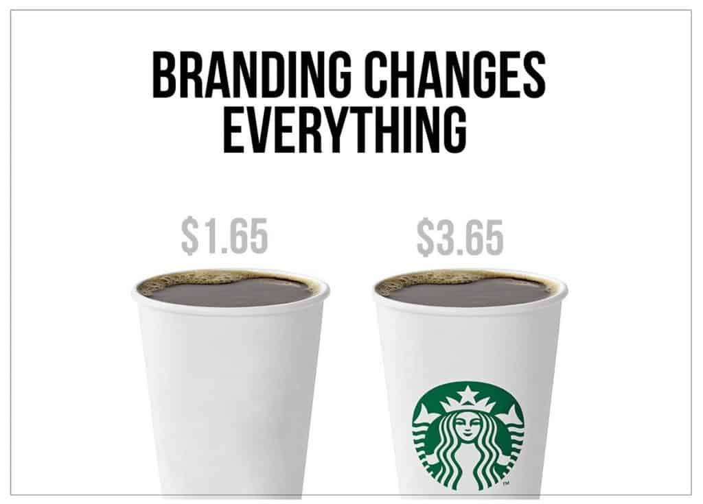 Branding increase price starbucks cups