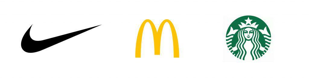 Nike Mc Donalds Starbucks logo design