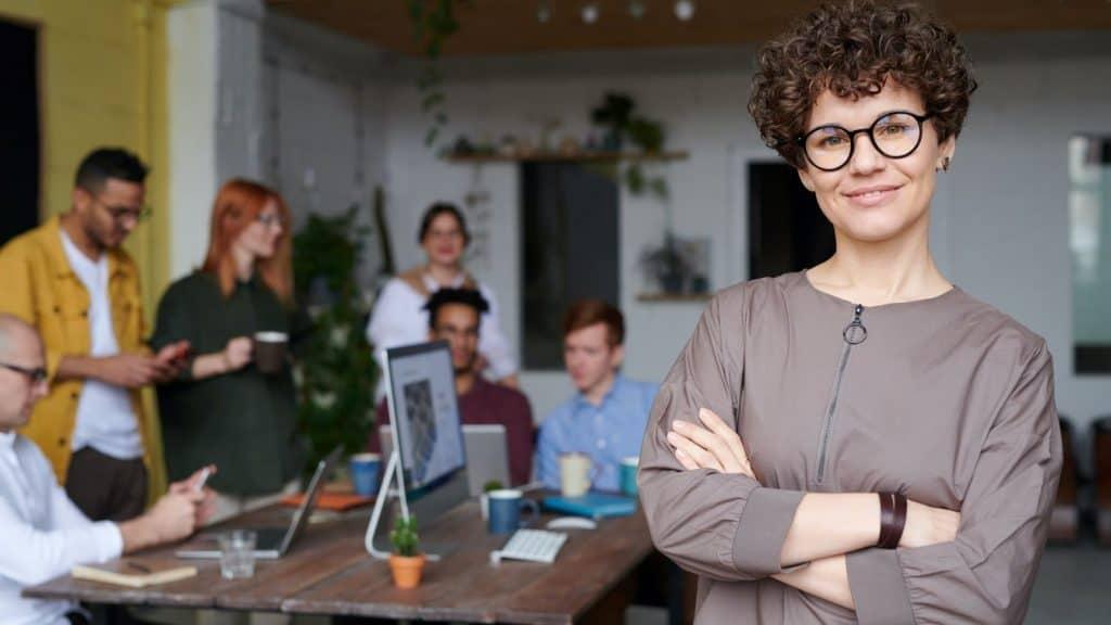 entrepreneur wearing glasses