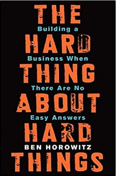 The Hard Thing About Hard Things Book Cover
