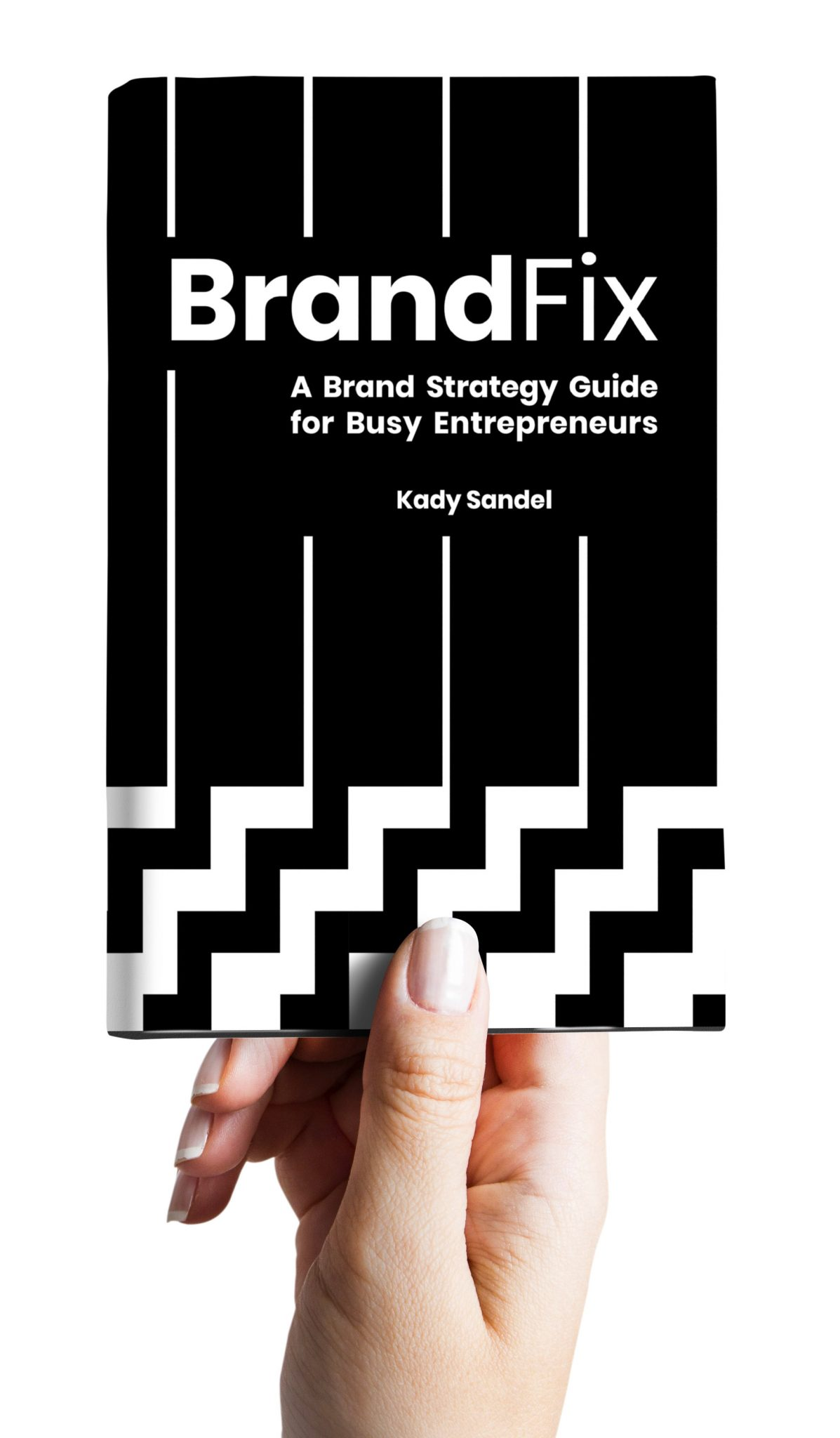 BrandFix Front Cover 3D with a Hand