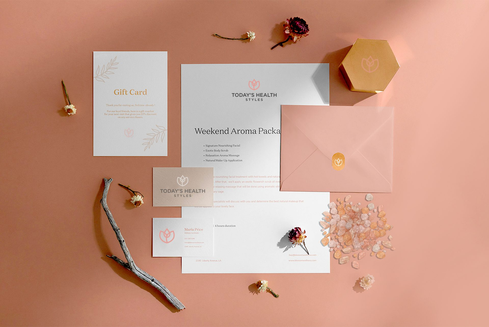Stationery design and branding