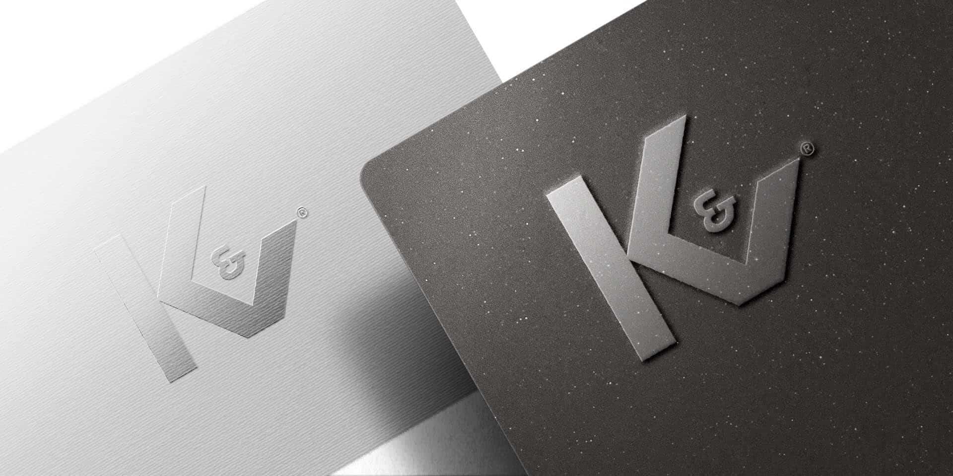 KV Embossed Metallic Logo