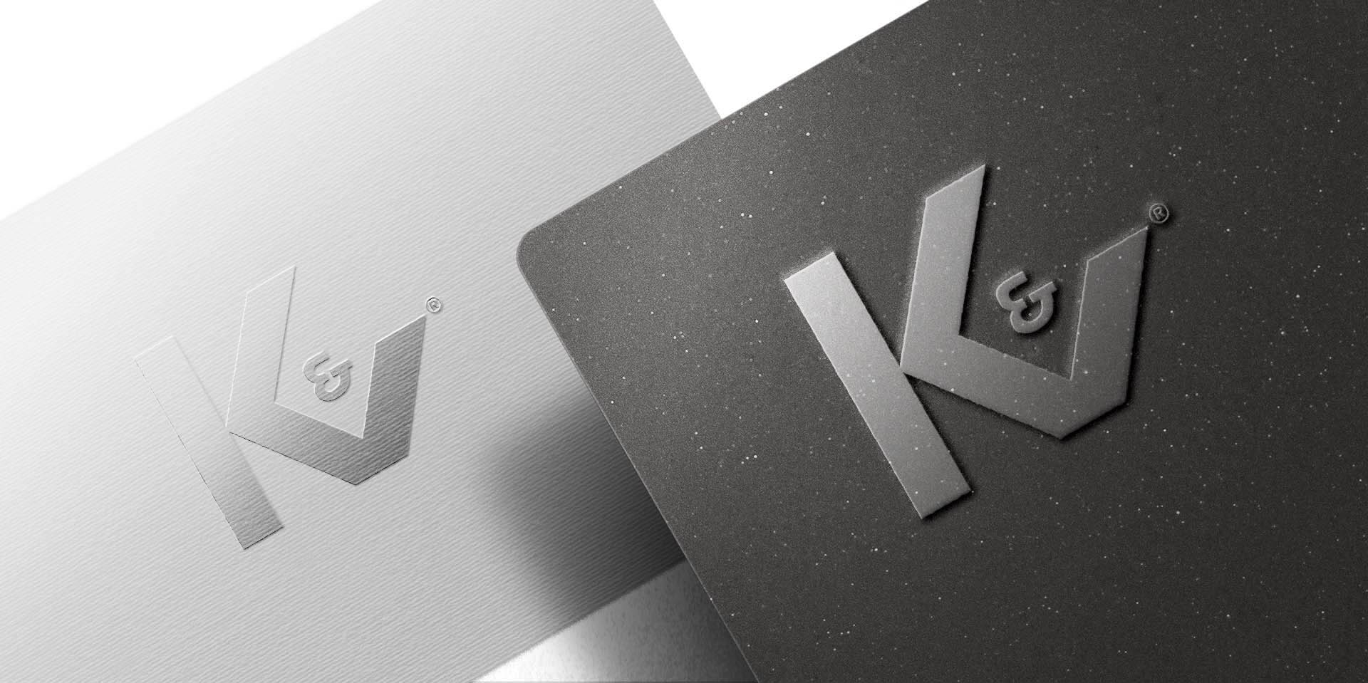 KV Embossed Metallic Logo