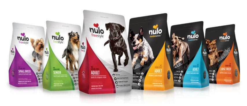 Nulo pet food branding example