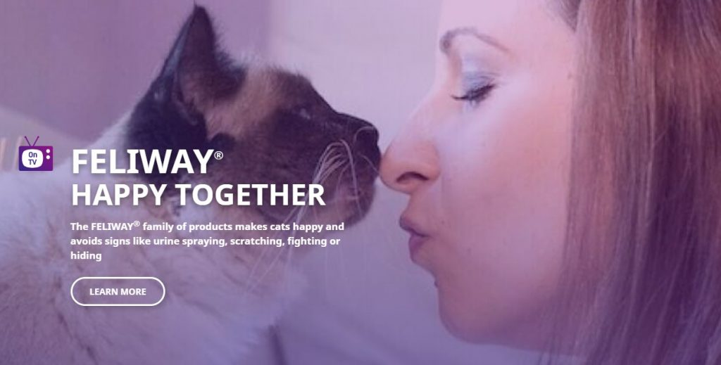 Feliway Pet Product Website Design example