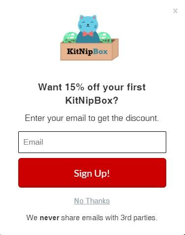 KitNip Pop Up discount brand example