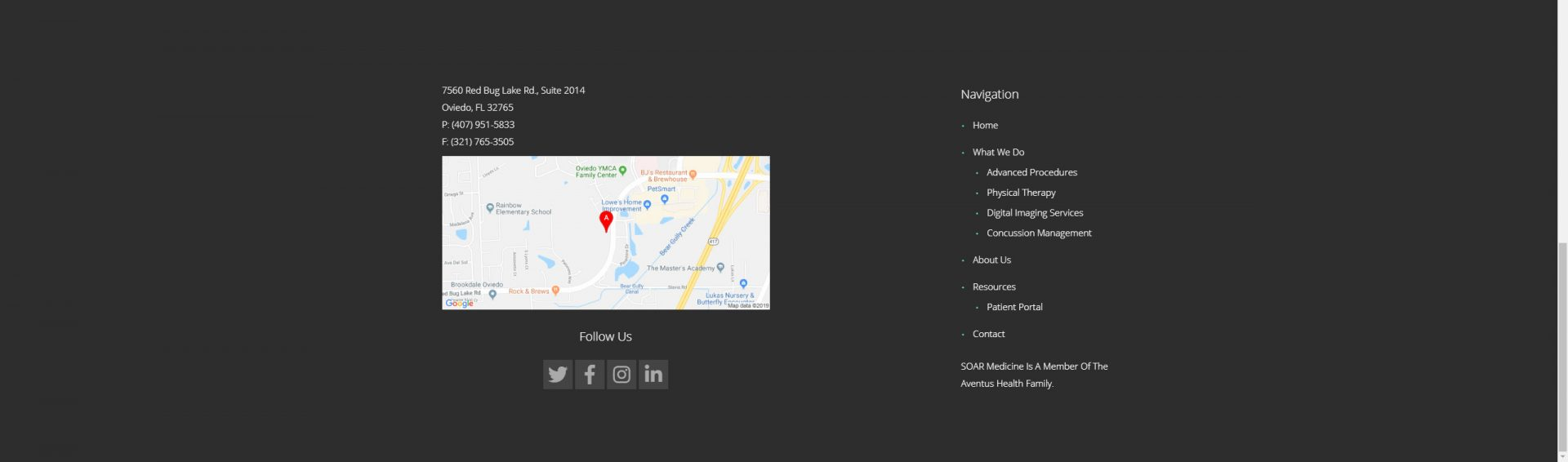 Website design footer about us page