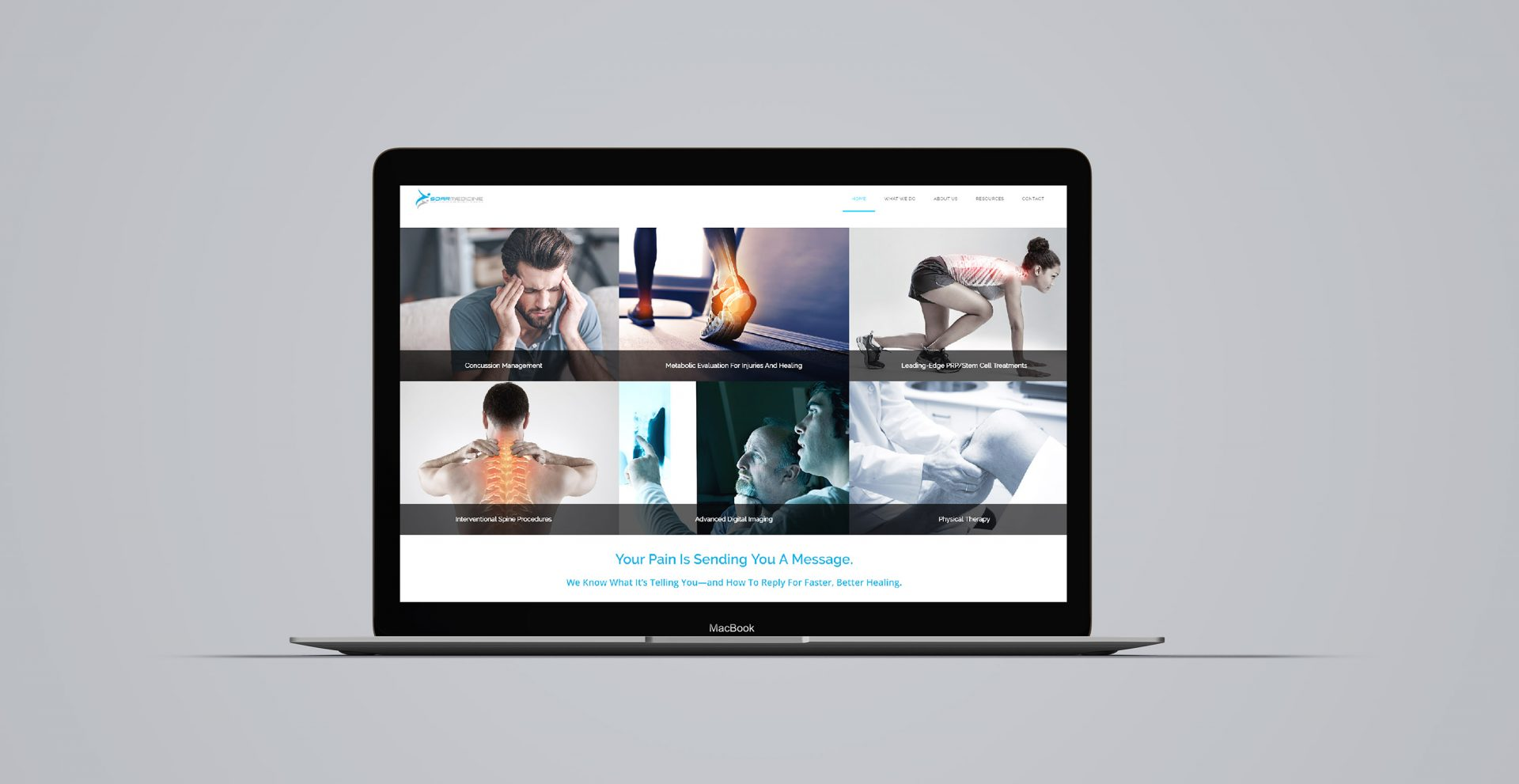 orthopedic treatment options website design