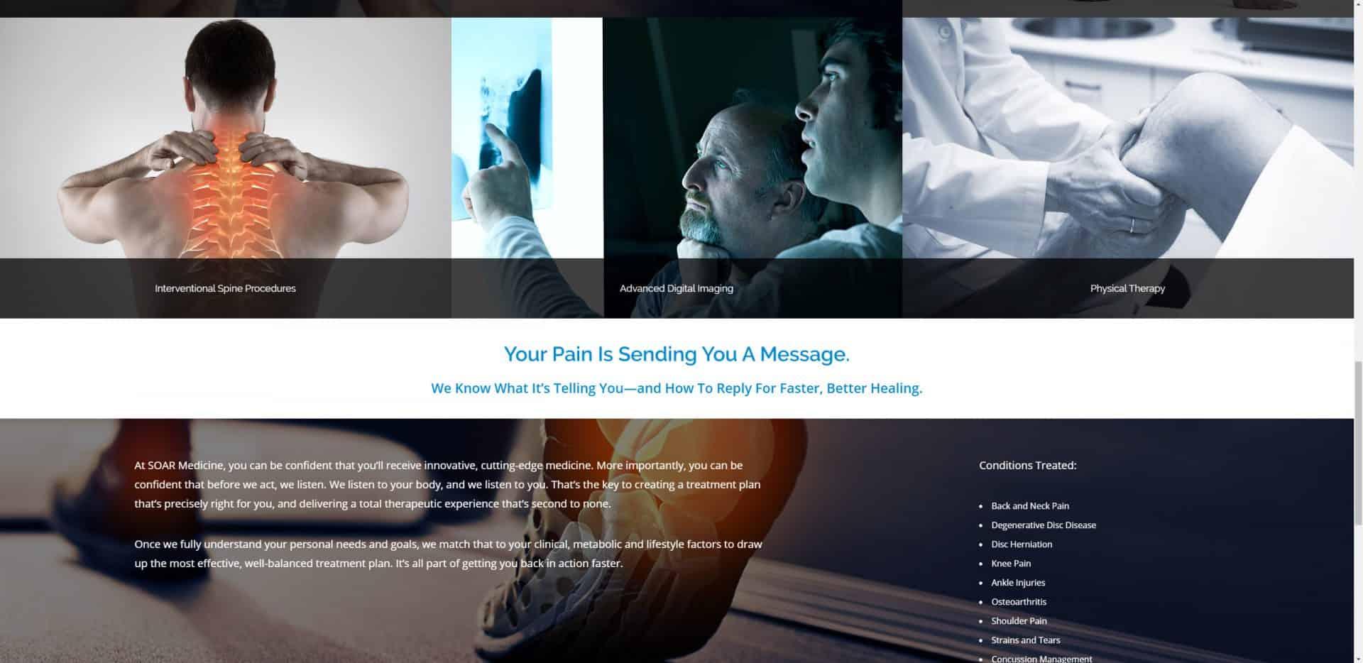 Injuries and healing web