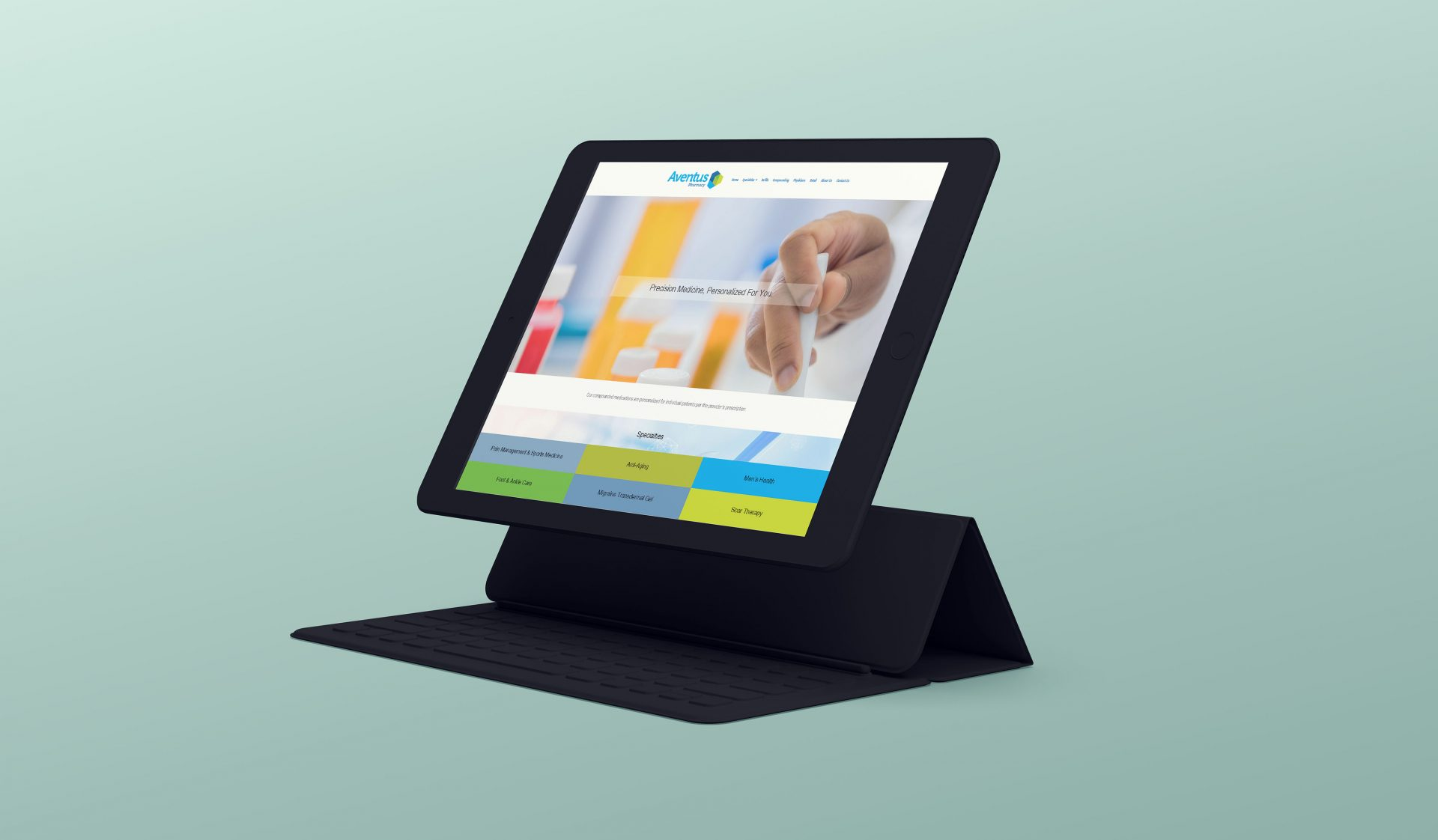 Ipad website design for a pharmacy