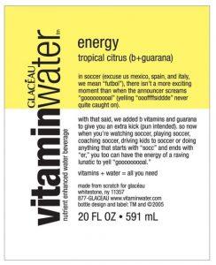 vitamin water label
