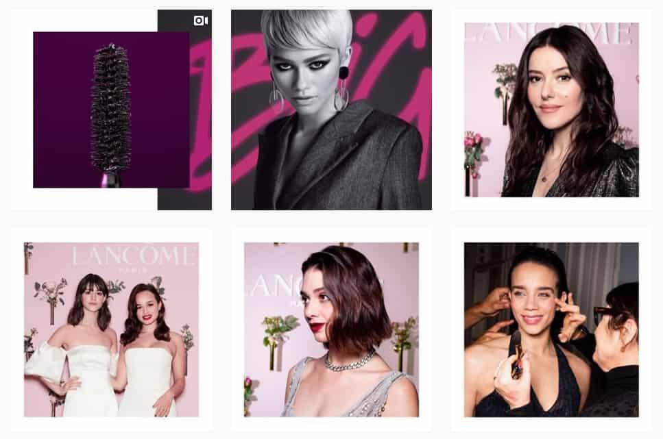 Lancome beauty brand Instagram feed