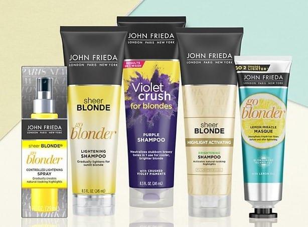 john frieda sheer blonde products