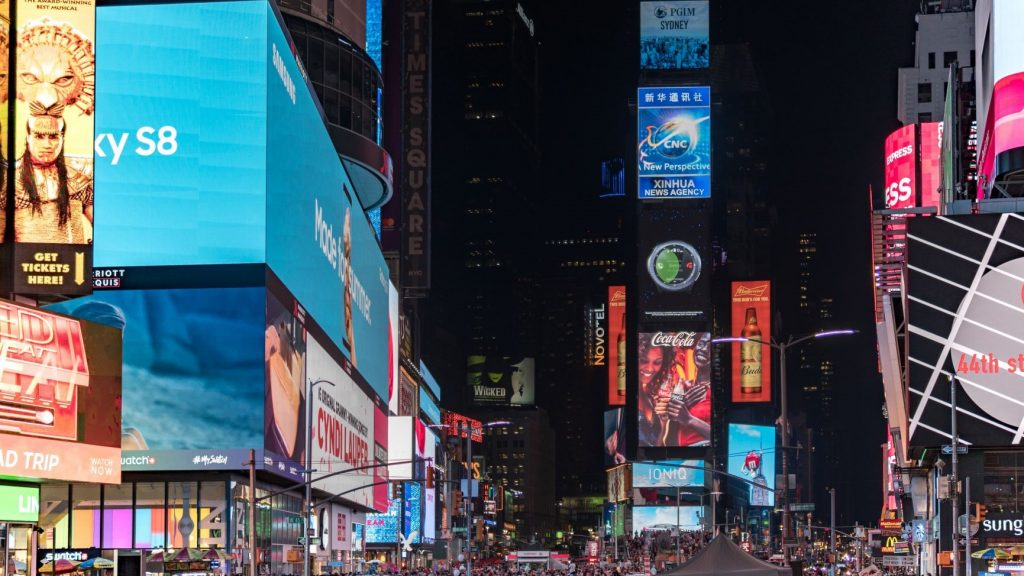 advertisements in times square