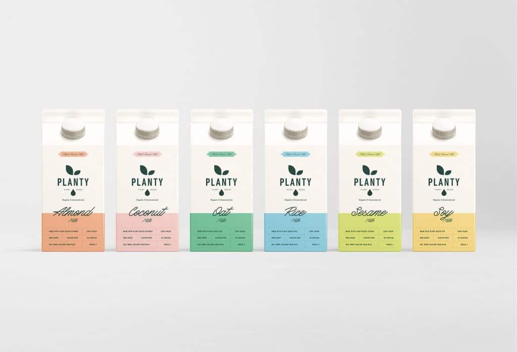 Logo design for milk - packaging