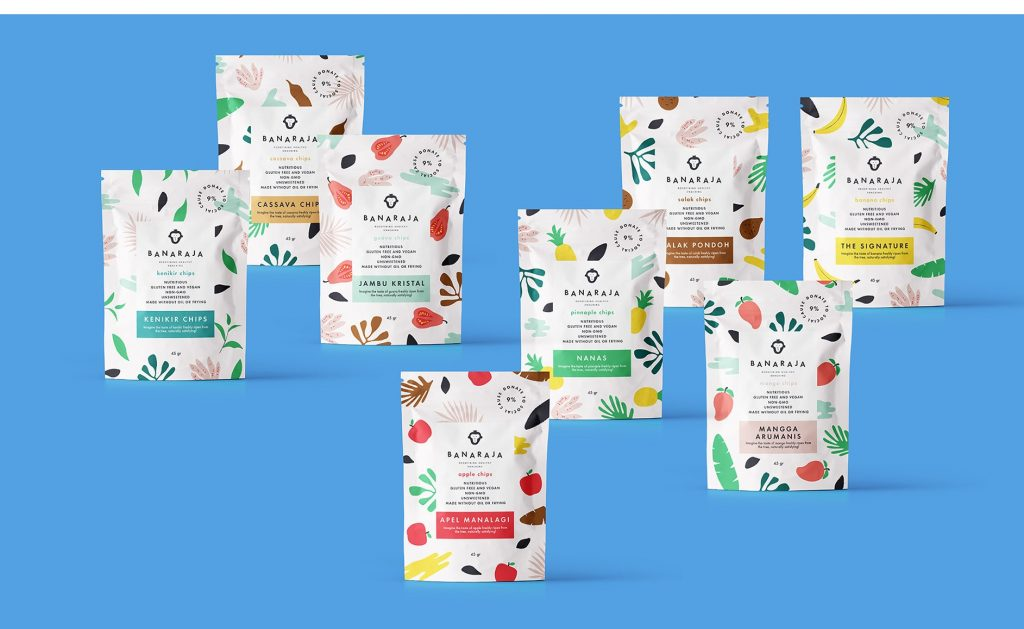 Healthy snacks logo and packaging design