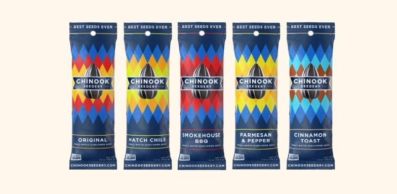 Chinook Seedery product packaging