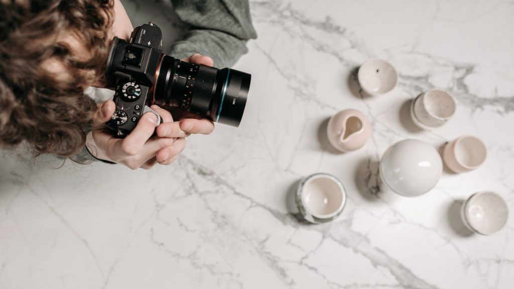 photographer taking product photos