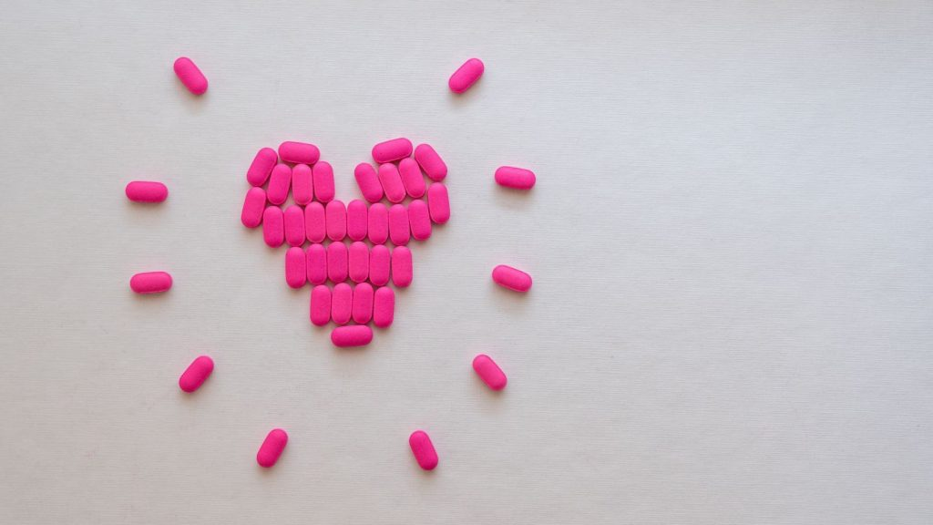 vitamins in the shape of a heart