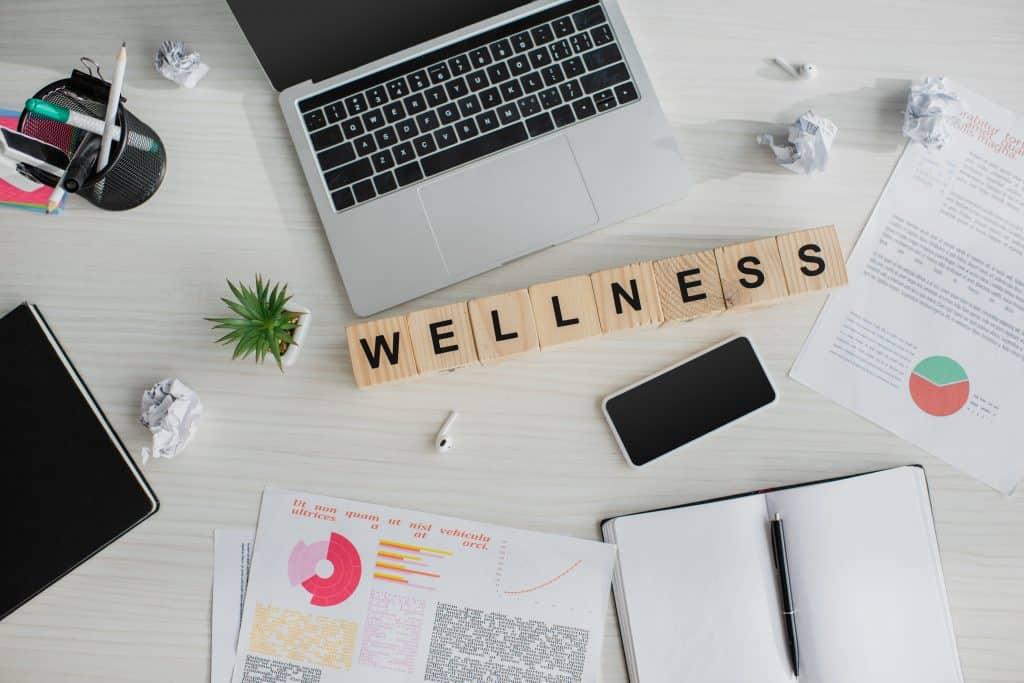Wellness + laptop