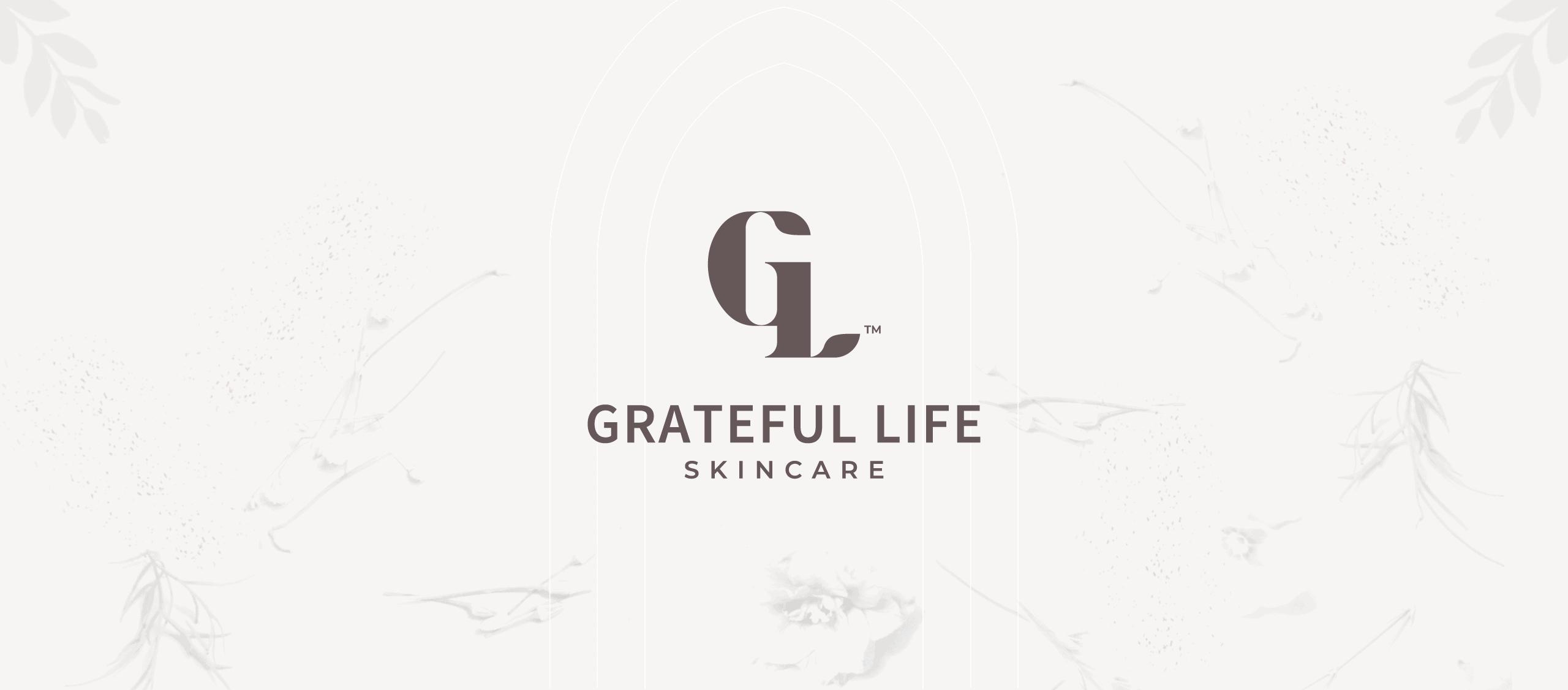 Grateful Life Skincare Logo Design