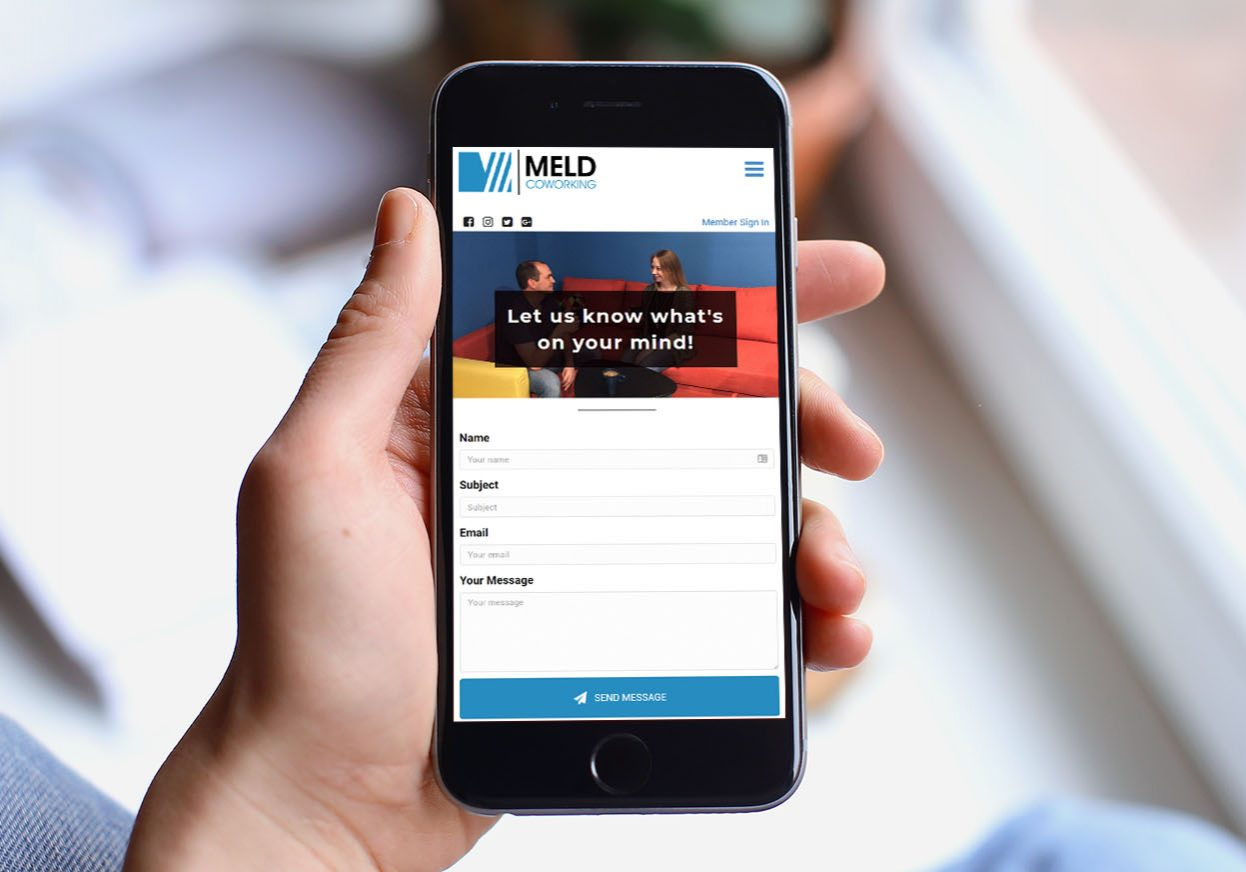 MELD Coworking Contact Page - mobile